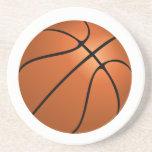 Prácticos de costa del baloncesto posavasos diseño