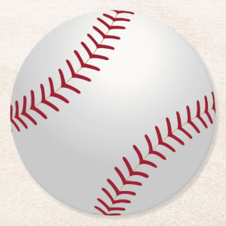 Prácticos de costa del béisbol del tema de los posavasos desechable redondo