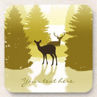 Prácticos de costa del bosque de los ciervos de la posavasos de bebidas