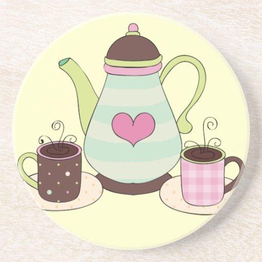 Prácticos de costa del café o del té posavasos diseño