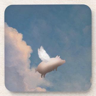 prácticos de costa del cerdo del vuelo posavasos de bebidas