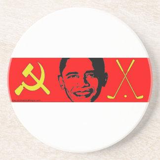 Prácticos de costa del comunista y de un golfista posavasos para bebidas