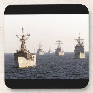 Prácticos de costa del corcho de las naves de guer posavasos