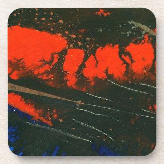 Prácticos de costa del corcho del arte abstracto posavaso