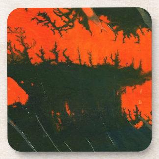Prácticos de costa del corcho del arte abstracto posavasos