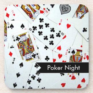Prácticos de costa del corcho del juego de tarjeta posavasos