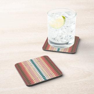 Prácticos de costa del corcho del zigzag de posavasos de bebidas