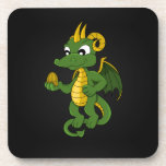 Prácticos de costa del dibujo animado del dragón v posavaso