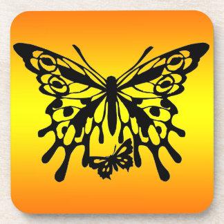 Prácticos de costa del diseño de la mariposa de la posavasos