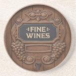 Prácticos de costa del diseño del barril de vino posavaso para bebida