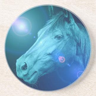 Prácticos de costa del diseño del caballo posavasos personalizados