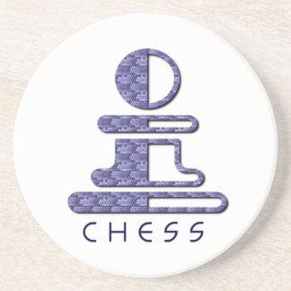 Prácticos de costa del empeño del ajedrez posavaso para bebida