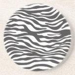 Prácticos de costa del estampado de zebra posavaso para bebida