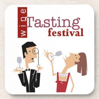 Prácticos de costa del festival de la degustación  posavasos de bebidas
