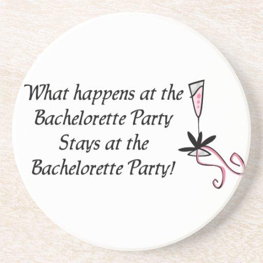 Prácticos de costa del fiesta de Bachelorette Posavasos Diseño