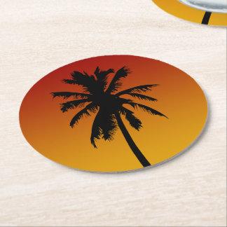 Prácticos de costa del fiesta de la playa de la posavasos de cartón redondo