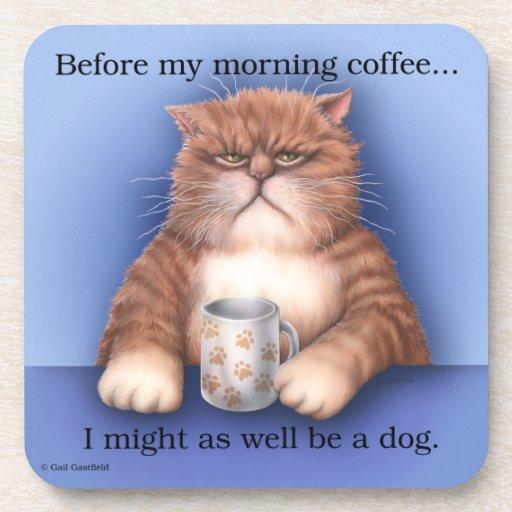 Prácticos de costa del gato del café posavasos de bebidas