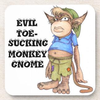 Prácticos de costa del gnomo del mono del mal Dedo Posavasos
