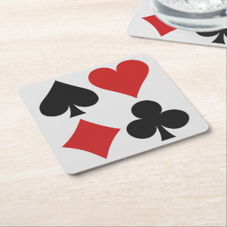 Prácticos de costa del jugador de tarjeta posavasos personalizable cuadrado