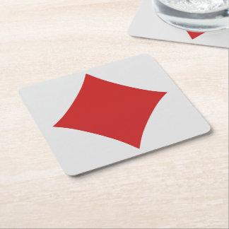 Prácticos de costa del jugador de tarjeta - posavasos de cartón cuadrado
