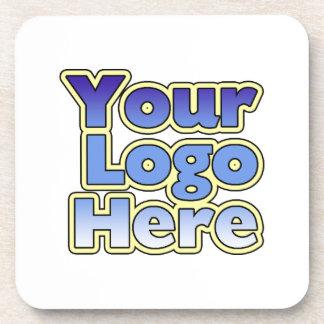 Prácticos de costa del logotipo del negocio de la  posavaso