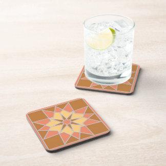 Prácticos de costa del modelo de mosaico posavasos de bebida