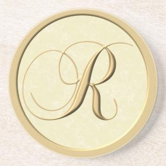 Prácticos de costa del monograma - letra R Posavaso Para Bebida