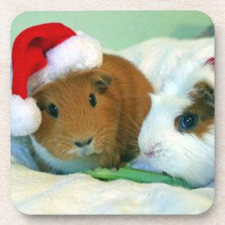 Prácticos de costa del navidad del conejillo de posavasos de bebida