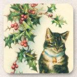 Prácticos de costa del navidad del gatito posavasos
