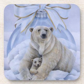 Prácticos de costa del navidad del oso polar posavasos