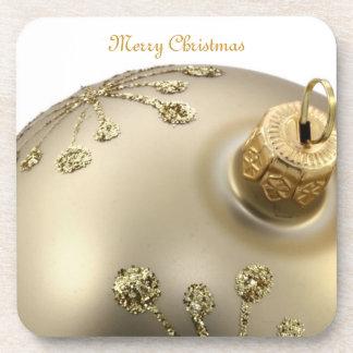 Prácticos de costa del ornamento del navidad del o posavasos de bebidas