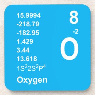 Prácticos de costa del oxígeno (luz en azul) posavasos de bebidas