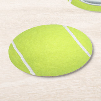Prácticos de costa del papel de pelota de tenis posavasos personalizable redondo