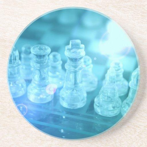Prácticos de costa del partido del ajedrez posavaso para bebida