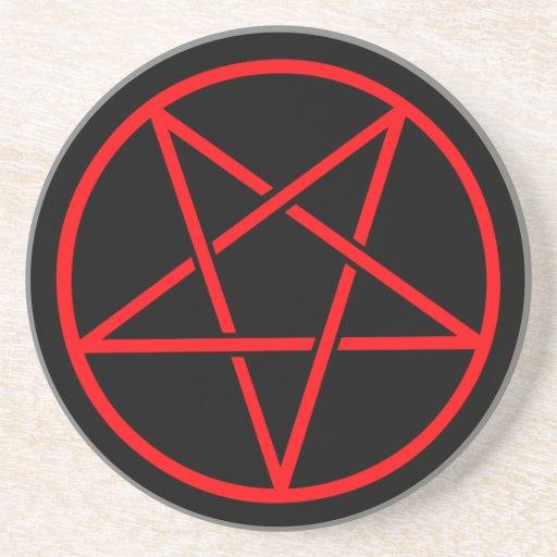 Prácticos de costa del Pentagram Posavasos Personalizados