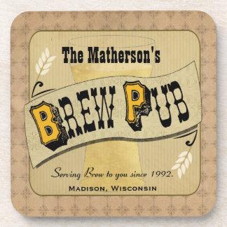 Prácticos de costa del personalizado del Pub de Br Posavasos De Bebidas