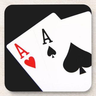 Prácticos de costa del póker posavasos de bebida