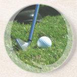 Prácticos de costa del putt del golf posavasos diseño