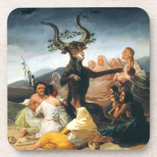 Prácticos de costa del Sabat de las brujas de Goya Posavasos De Bebida