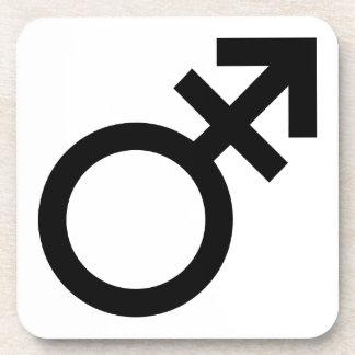 Prácticos de costa del transexual posavasos de bebidas