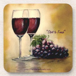 Prácticos de costa del vino posavasos de bebida