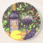Prácticos de costa del vino y del queso posavasos diseño