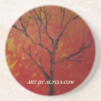 Prácticos de costa desnudos del árbol posavasos personalizados