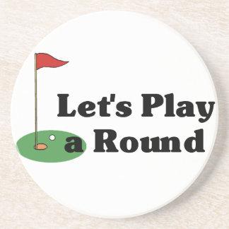 Prácticos de costa divertidos del golf posavasos de arenisca