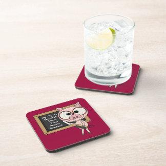 Prácticos de costa elegantes del cerdo (fije de 6) posavasos de bebida