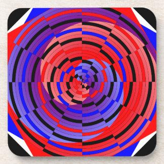 Prácticos de costa espirales contrarios rojos y az posavasos de bebidas