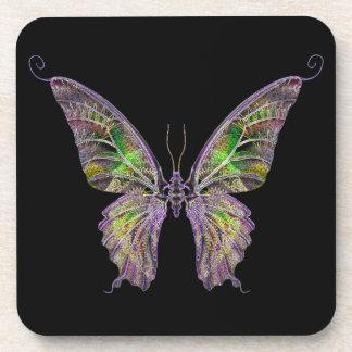 Prácticos de costa exóticos de la mariposa posavasos