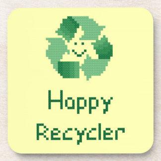 Prácticos de costa felices del reciclador portavasos
