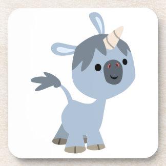 Prácticos de costa felices lindos del unicornio de posavasos de bebidas
