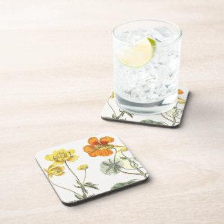 Prácticos de costa florales de las flores de la posavasos para bebidas